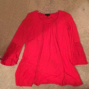 Mini red dress, size medium